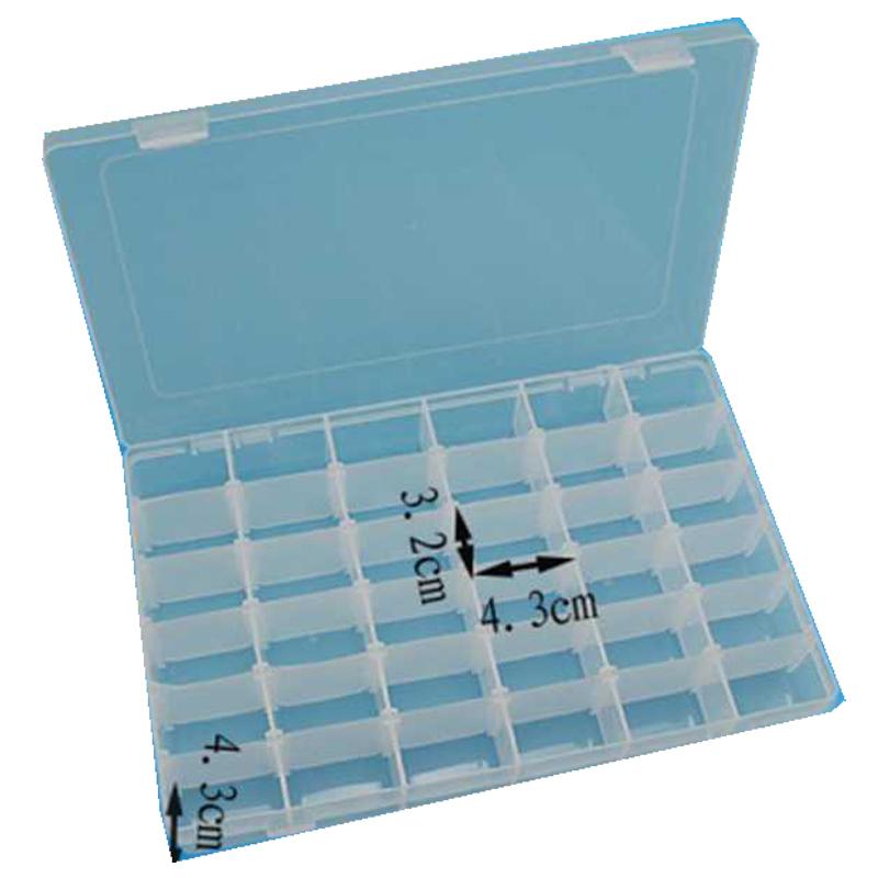 e49e3c8cd 37 sensor box / 36 Grid Plastic Adjustable Jewelry Organizer Box Storage  Container Case Size: 27.5*17.5*4.3cm