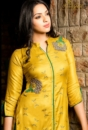 Blue and Yellow Palazo  Pure Pashmina Embroidered Salwar Suit (Copy) 10