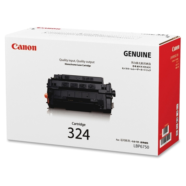 Canon 324 Toner Cartridge Black for LaserJet LBP 6750dn 6780x - Original
