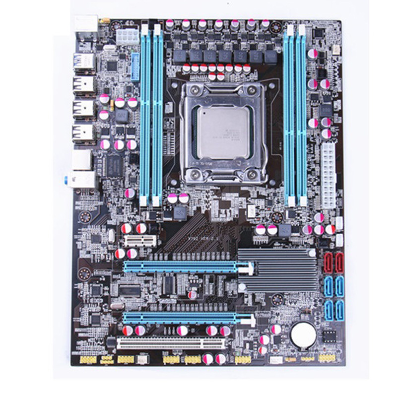 Intel X79 socket LGA 2011 motherboard with CPU Xeon E5 2660 C2 SR0KK RAM 4  x 8G 32GB 1333Mhz DDR3 REG ECC 1333 board