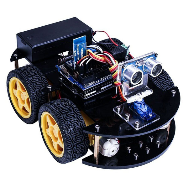 Smart Robot Car Kit for arduino UNO R3 with Ultrasonic Sensor /Bluetooth  module / Remote and tutorial CD