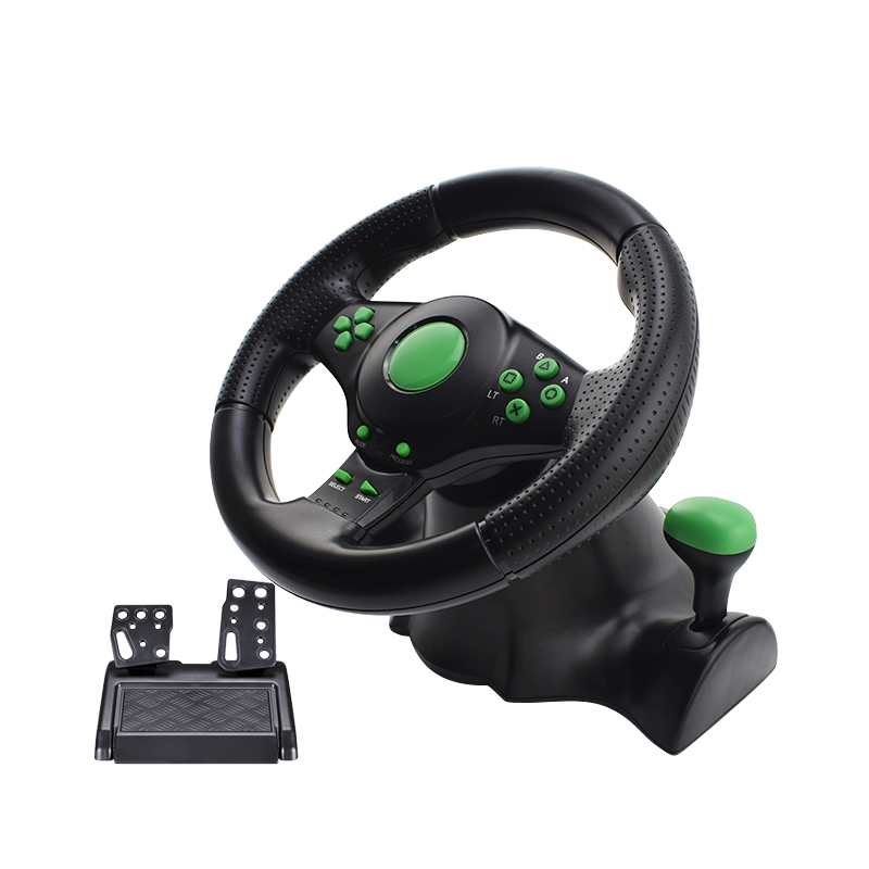 Steering Wheel for PC - For Android PC XBOX-360 PS3 Vibration Motor Racing  Games Wheel Remote Controller