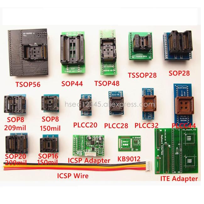 TSOP56 SOP44 TSOP48 SOP16 SOP8 PLCC44 KB9012 ICSP ITE Adapter Socket RT809H