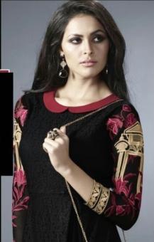 black golden embroided kurtis