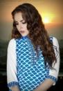 blue & white printed kurtis
