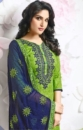 green & blue embroided suit