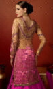 pink brown back side embroided lehengas suit