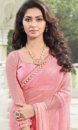 pink embroided sarees