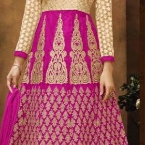 pink golden embroided lehenga choli