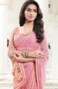 pink golden embroided sarees
