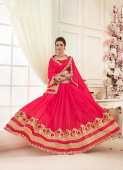 red golden embroided sarees
