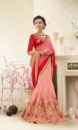 red &pink embroided sarees