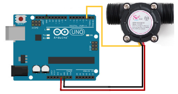 water flow sensor arduino connections buy in india