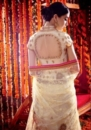 white pink back side embroided lehengas suit