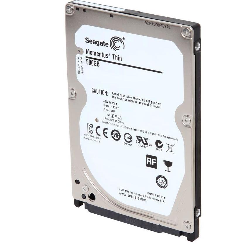 "Seagate Laptop Thin ST500LM021 500GB 7200 RPM 32MB Cache SATA 6.0Gb//s 2.5/"" Hard"