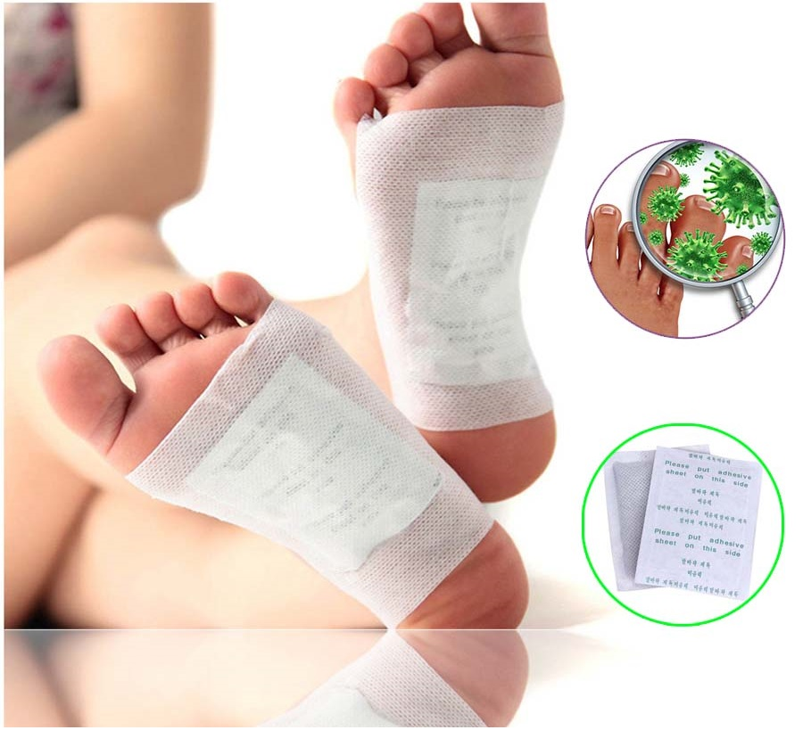 Buy Detox Foot Pads Patches With Adhesive Bamboo Pad