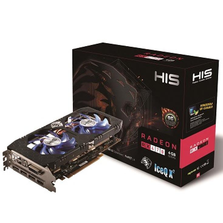 HIS GRAPHICS CARD RX 470 ICEQ X2 4GB DDR5 OC