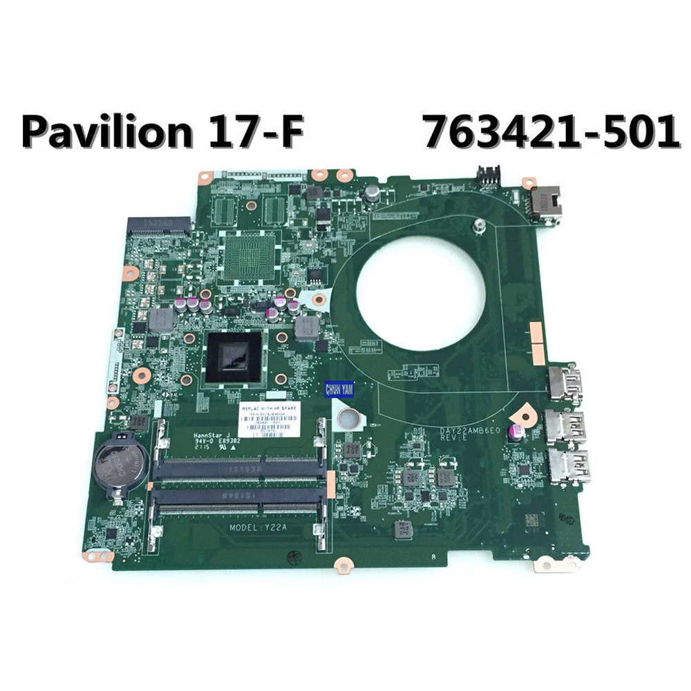 HP Pavilion TS 17 17-F Laptop Notebook Motherboard AMD A4-6210 763421-501  DAY22AMB6E0