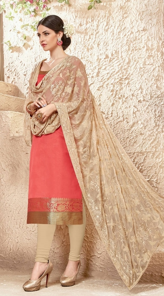 7adc0b09e Buy Banarasi Peach Salwar Suit With Heavy Dupatta Online in India at Lowest  Prices
