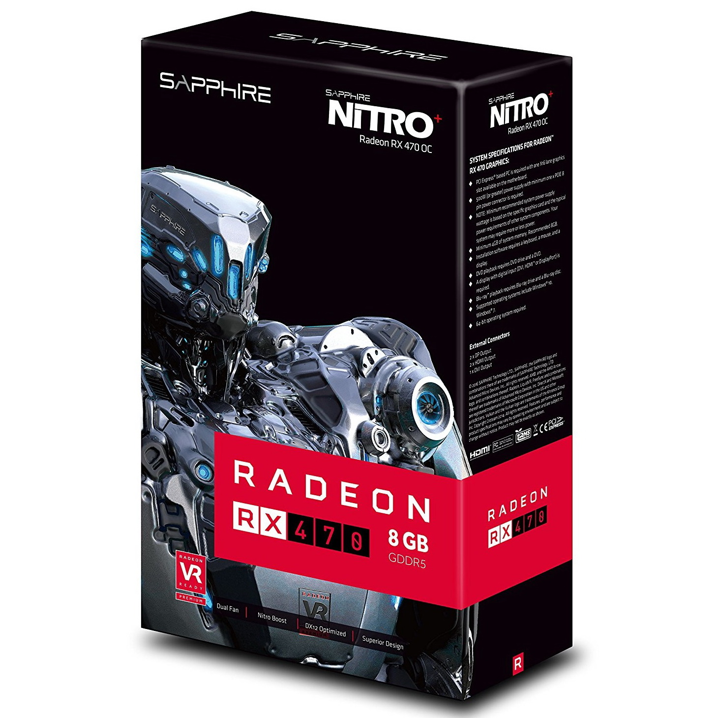 Sapphire Radeon NITRO Rx 470 8GB GDDR5