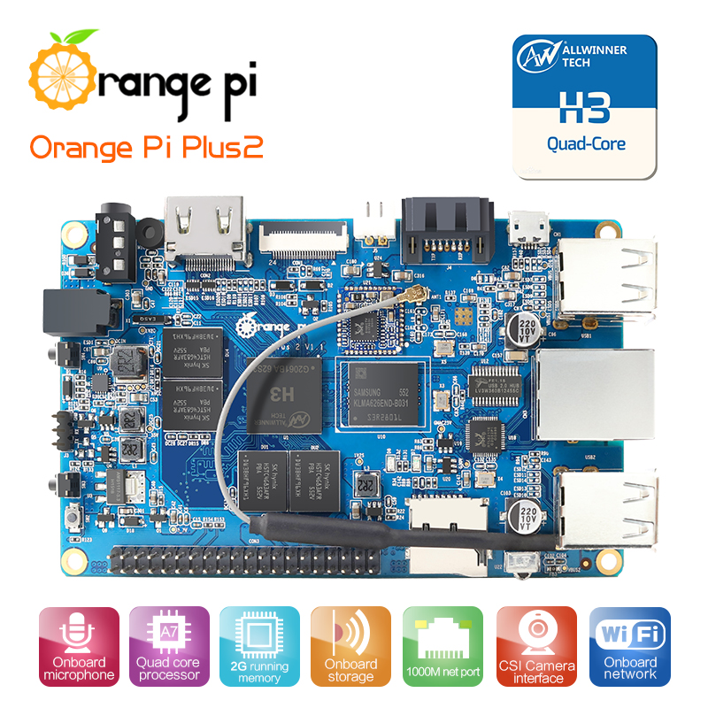 Orange Pi Plus 2 H3 Quad Core 1 6ghz 2gb Ram 4k Open