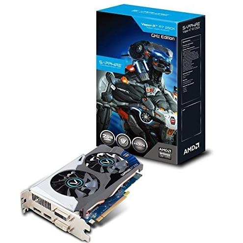 SAPPHIRE GRAPHICS CARD R7 250X 2GB DDR5 VAPOR X