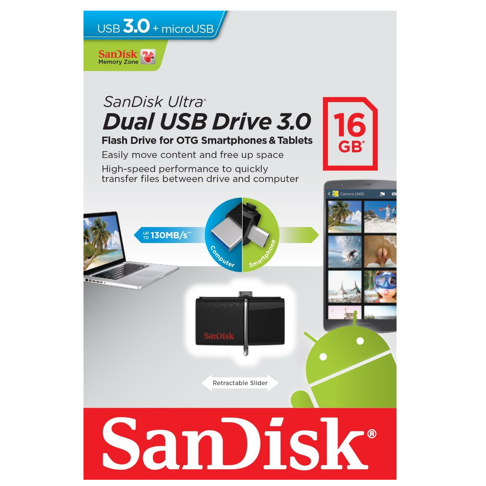 Buy Sandisk Ultra Dual Usb Drive 30 Sddd2 16gb Usb30 Black 3 Usb3 0 Micro Connector Pen Online In India At Lowest Prices Price