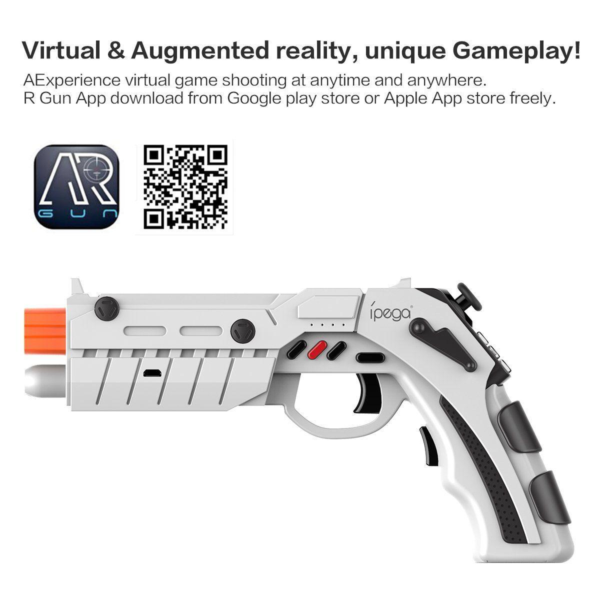 IPega PG-9082 AR GAMING GUN Wireless Bluetooth Controller with vibration  function for AR and VR games for Android and iOS Smartphones