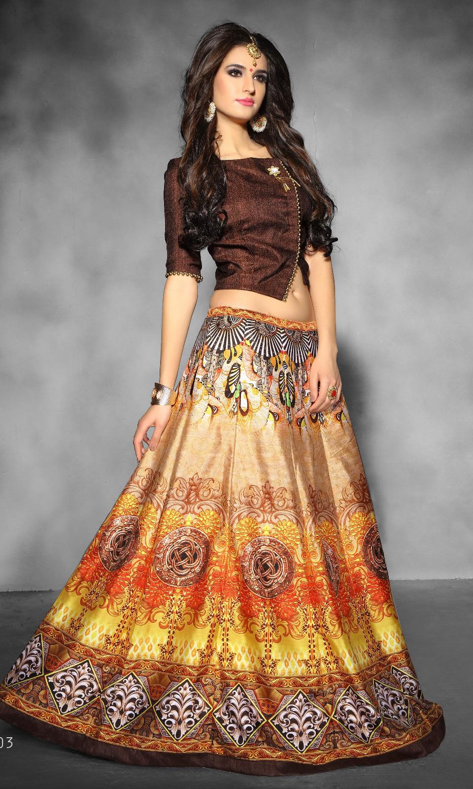 7f7c84d2d6586 Buy Ashima Platinum Crop Top Lehenga Online in India at Lowest ...